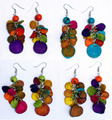Colored Orange Earrings Artisan Hand Made Wholesale Peruvian Jewelry