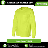 Custom Size and Design Long Sleeve Men's T Shirt at Wholesale Rate