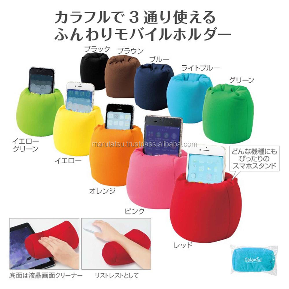 Reliable mobile phone stand Colorful 3WAY smart cushion for Hot-selling , Insert name also available