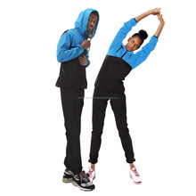 Loss Weight Unisex Hoodie Sauna Suit Black and Blue Sports Wear Made in Korea