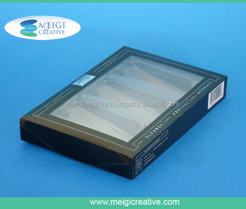 PET Plastic Folding Box with Snap Lock Sides and Custom Printing