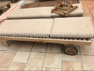 Out Door Sunbed Lounger Teak Garden