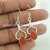 Red carnelian earring gemstone jewellery 925 sterling silver earrings jewelry exporters
