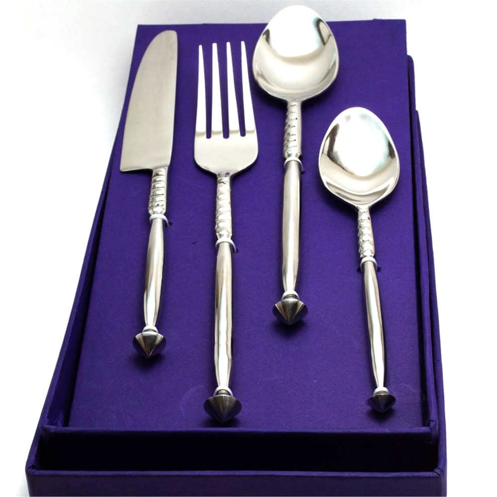 Thick stem-Spinning Top Cutlery Set (16 pcs)