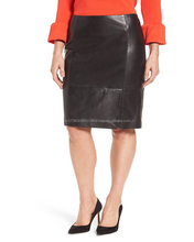 Custom Brand New Genuine Leather Pencil Skirt Manufacture Pakistan Wholesale Price