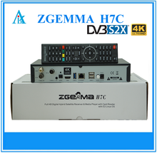 In Stock 4K UHD TV Box ZGEMMA H7C Satellite/Cable Receiver HEVC/H.265 With DVB-S2/S2X + 2 x DVB-T2/C Triple Tuners.