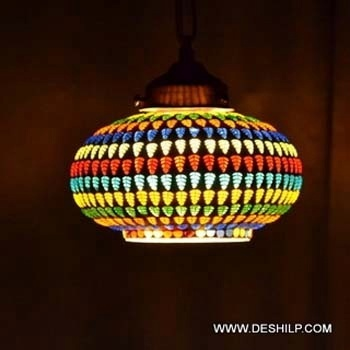 Hanging Glass Mosaic Lamp With Fitting