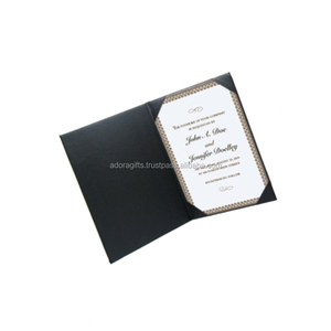 Black Padded Diploma Covers / marriage certificate holder