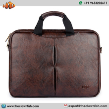 The Clownfish 15.6 inch Leatherette Tablet Laptop Messenger Briefcase Bag