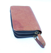 Real Brown leather women wallets