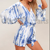 OEM Wholesale Women hand made Tie Dye Casual Beachwear Summer plus size Jumpsuit for womens wear