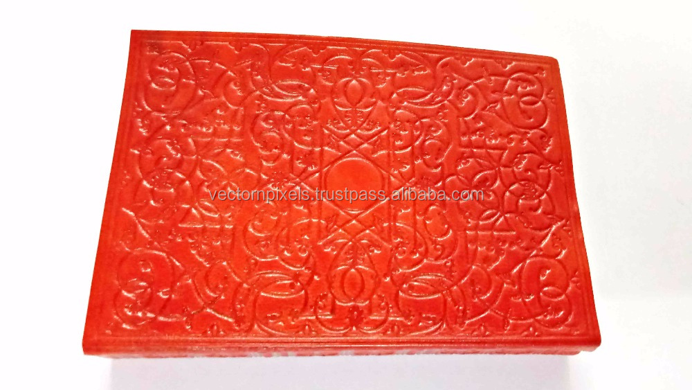 wholesale vintage indian embossed celtic leather refillable travelers journal notebook hardcover paper diary