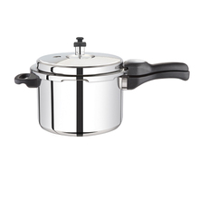 Hot sell safety guarantee 18/8 stainless steel pressure Stainless Steel Black Cooker suitable to gas stove & induction Stainless