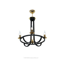 APLIQA PENELOPE 6 LIGHTS BLACK CHANDELIER