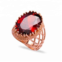 Natural Stone Design For Women Wholesale Handmade 925 Sterling Silver Jewellery Zircon Ring