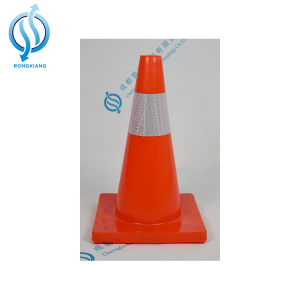 Flexible Roadwork/Worksite safety PVC traffic Cone with 2 reflective bands