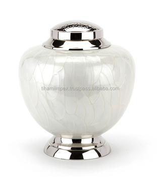 Hyde White Cremation Urn