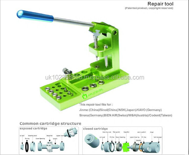 High quality Dental highspeed/lowspeed handpiece cartridge repair tool,SELLING IN GERMANY, CE/FDA