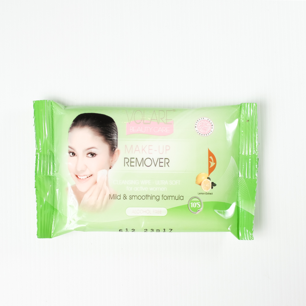 Volare Make Up Remover 10'S , Facial Cleansing tissue on step, Personal Wipes