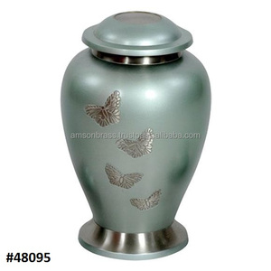 Silver Butterfly Large Cremation Urn