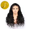 PEARLCOIN High Grade Long Length Brazilian Human Hair Natural Black Body Wave Lace Front Wig Wholesale