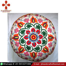 "Good Quality Indian Suzani Embroidery 16"" X 16"" Ethnic Pillow Cover"