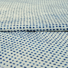 Wholesale cotton hand block indigo blue polka dot printed jaipur dye fabric