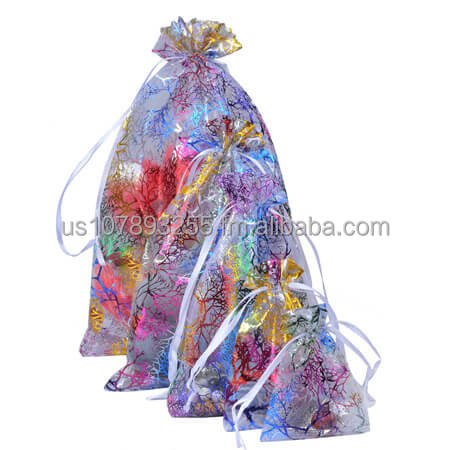 Customized organza bags with branches