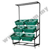 Vege Rack With 6 Basket, Supermarket Fruit & Vegetable Rack, Retail Shop Display Rack