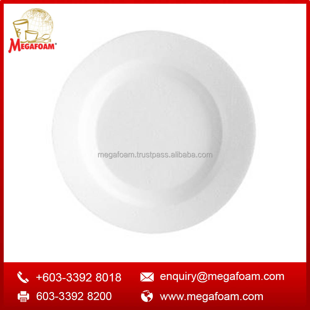 Disposable Round White Foam Plate