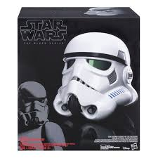 NEW Wars The Black Series Imperial Authentic Stormtrooper Electronic Voice Changer Helmet Star