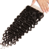 Deep wave closure Best products in America Brazilian virgin hair lace closure 100% raw human hair top closure