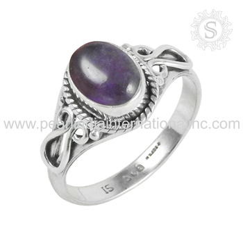 Amazing purple amethyst ring 925 sterling silver jewelry supplier factory gemstones silver jewelry indian handmade silver rings