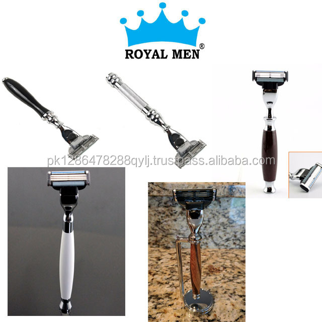 shaving stand for straight razor and shaving brush stainless steel shaving stand
