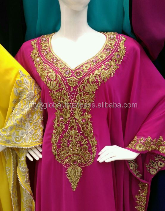 Wholesale Export Dubai Kaftan Dress Butterfly Chiffon, Farasha,Jalabiya, Abaya
