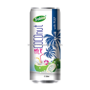 250ml Pure Coconut Milk With Pulp from VietNam-VietNam Manufacturer-OEM Fruit Juice-From Trobico Brand