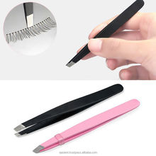 Beauty Eyebrow Tweezers Eyelash Tweezers In Stainless Steel Black Color Tweezerman