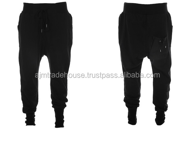 mens Casual trousers harem pants men black fashion swag dance drop crotch hip hop sweat pants