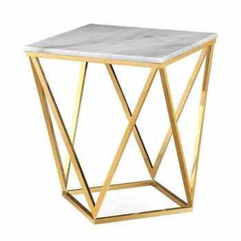 High Quality best living room luxury cheap side tables in Stainless Steel