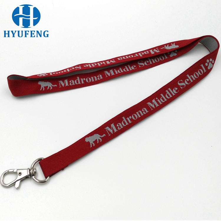 Hot selling bottle opener strap cheap security woven logo lanyard