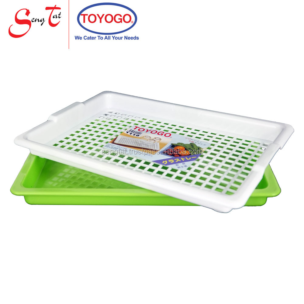 Simple Design Light Weight and Durable Serving Tray come with drainer tray (1119)
