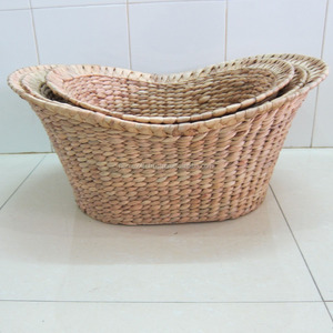 Natural Handwoven Water Hyacinth Baskets from Home24h.biz