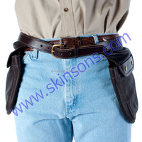 leather gun bag with belt
