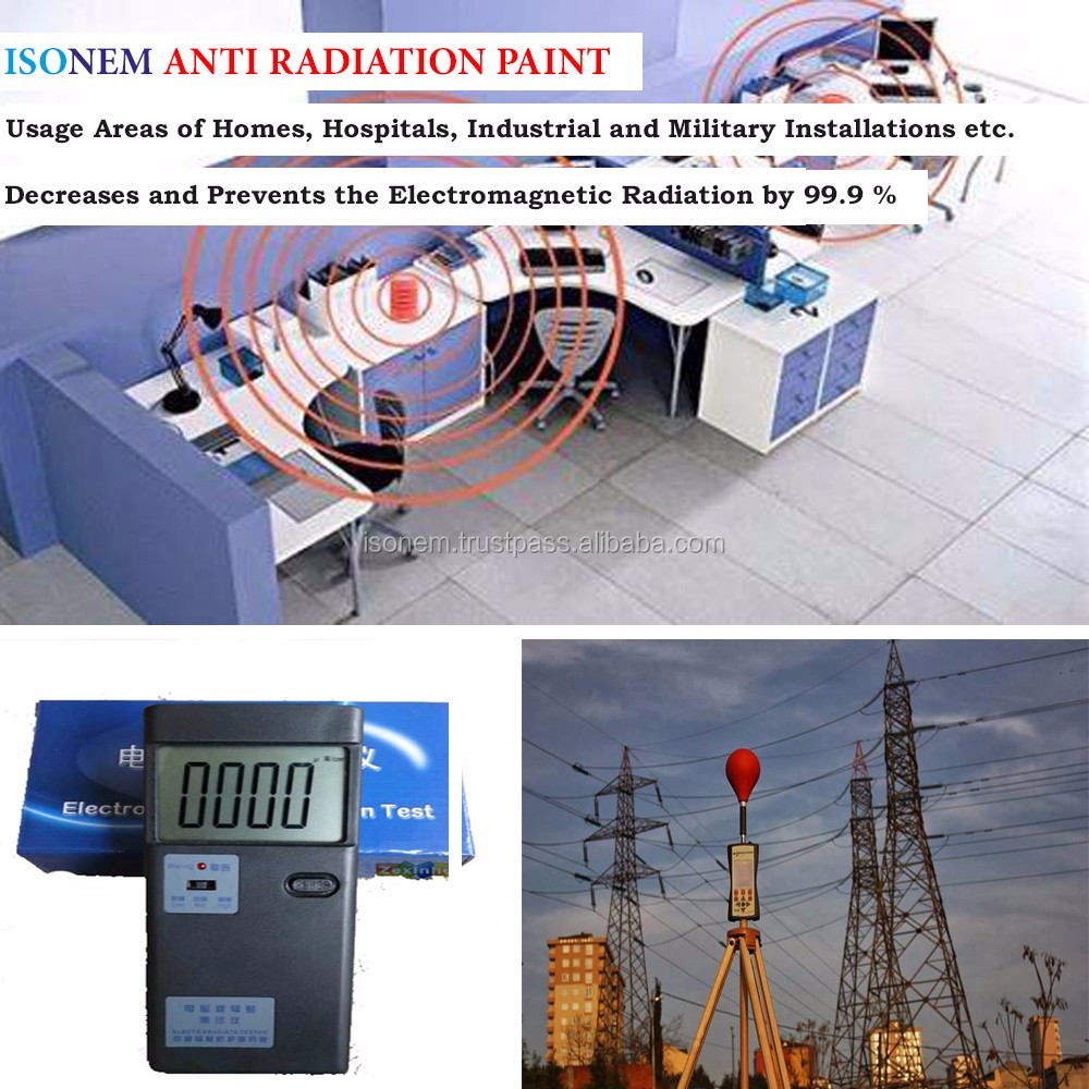 ISONEM ANTI RADIATION WALL PAINT ELECTROMAGNETIC RADIATION PROTECTION PAINT