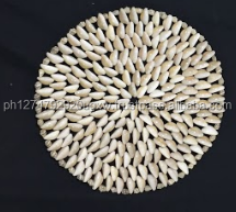 Wholesale natural Seashell Placemats, using annulus shells