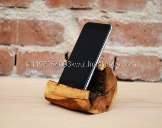 Wooden Mobile Phone Holder, teakwood, mahagony wood
