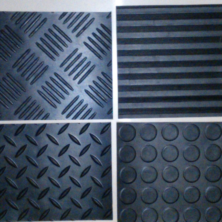 Anti slip rubber flooring mat