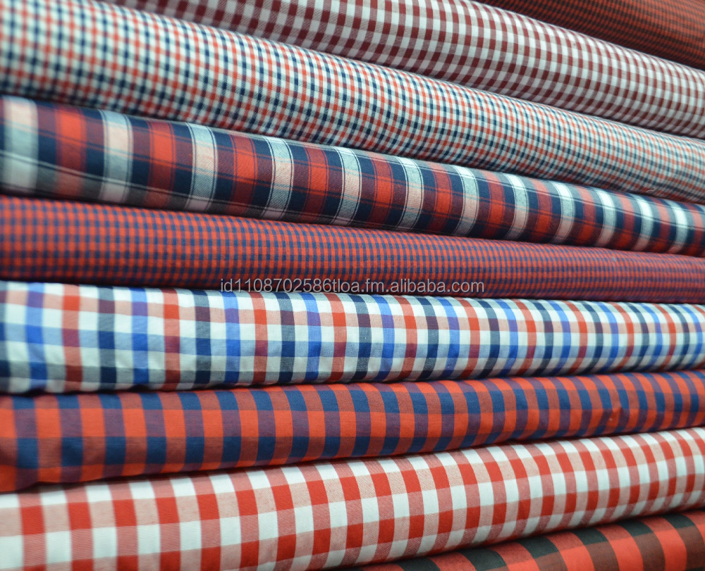 Fashion shirt garment yarn dyed fabric check stripe