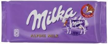 MILKA 100g Alpine Milk Chocolate