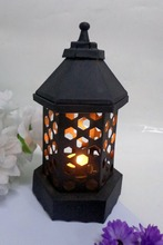 Black with Gold Splendid Customize Decorative Table Top Lantern With T-Light Holder